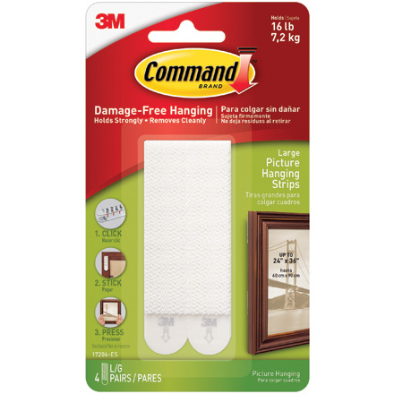 3M<span class='tm'>™</span> 17206 Command<span class='tm'>™</span> Picture Hanging Strips - Large