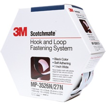 Scotchmate<span class='tm'>™</span> Hook and Loop Tape - Mini Pack Rubber Adhesive