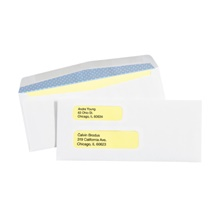 "3 <span class='fraction'>7/8</span> x 8 <span class='fraction'>7/8</span>"" - #9 Double Window Gummed Business Envelopes with Security Tint"